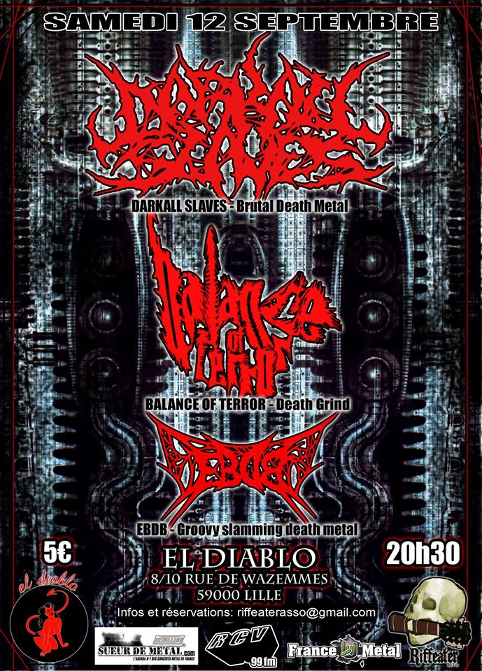 Affiche Darkall Slaves + Balance Of Terror