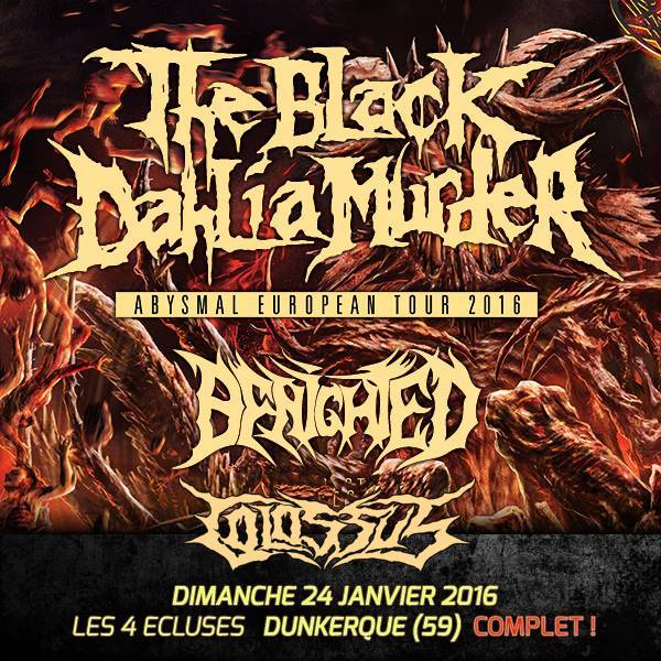 affiche the black dahlia murder + benighted dunkerque